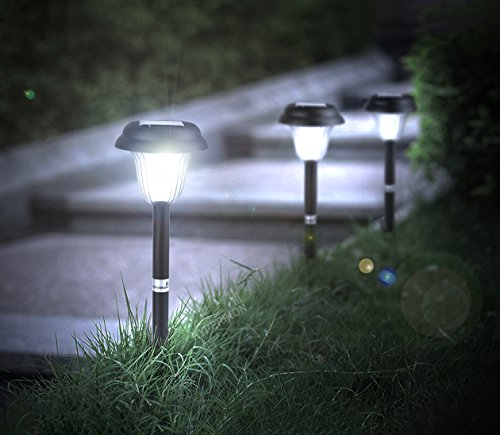 Best rated solar powered pathway lights 2017 top 8 reviews for Top rated landscape lighting